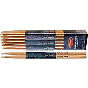 12-PAIR OAK DRUM STICKS Nylon Tip 5BN