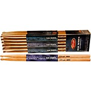 12-PAIR OAK DRUM STICKS Wood Tip 5A