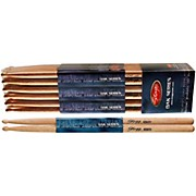 12-PAIR OAK DRUM STICKS Wood Tip 5B