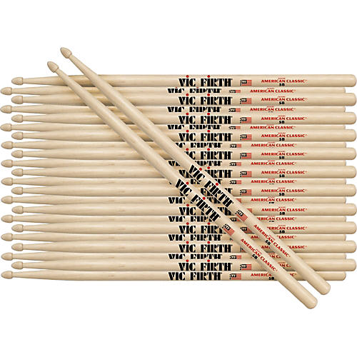 Vic Firth 12-Pair American Classic Hickory Drumsticks-thumbnail