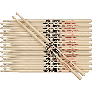 Vic Firth 12-Pair American Classic Hickory Drumsticks by Vic Firth