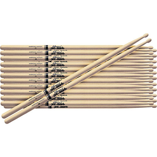 PROMARK 12-Pair American Hickory Drumsticks Wood 808