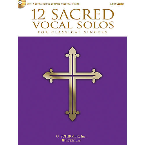 Hal Leonard 12 Sacred Vocal Solos - Low Voice And Piano - With A CD Of Piano Accompaniments-thumbnail