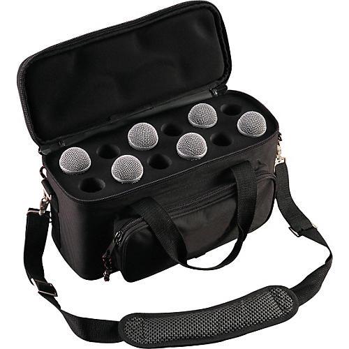 Musician's Gear 12-Space Microphone Bag Black
