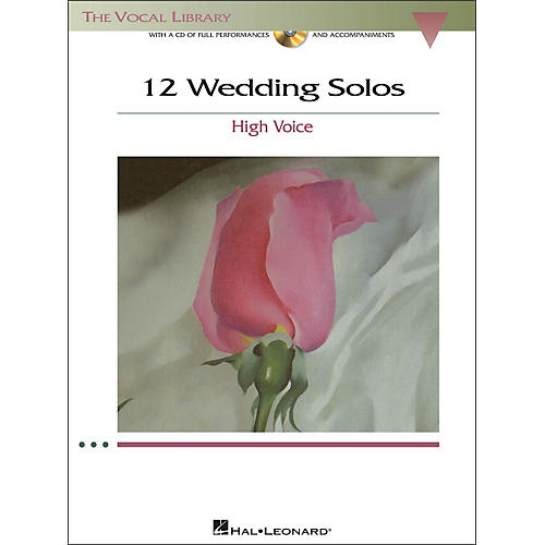 Hal Leonard 12 Wedding Solos for High Voice (The Vocal Library) Book/CD-thumbnail