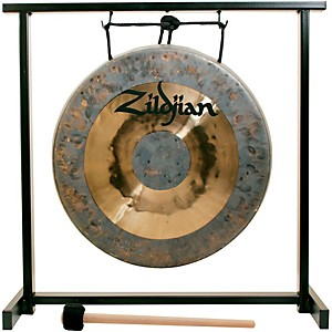 Zildjian 12 in. Traditional Gong and Table-Top Stand Set by Zildjian