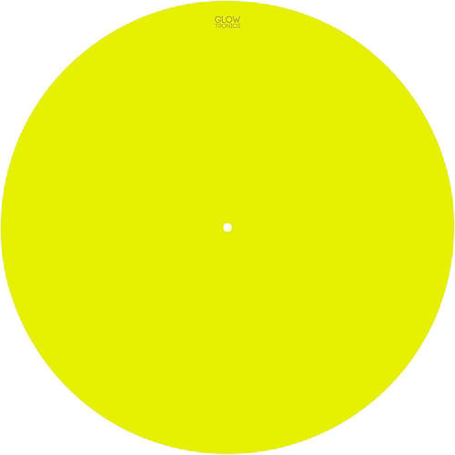 Glowtronics 12 in. UV-activated Yellow Glow DJ Slipmat