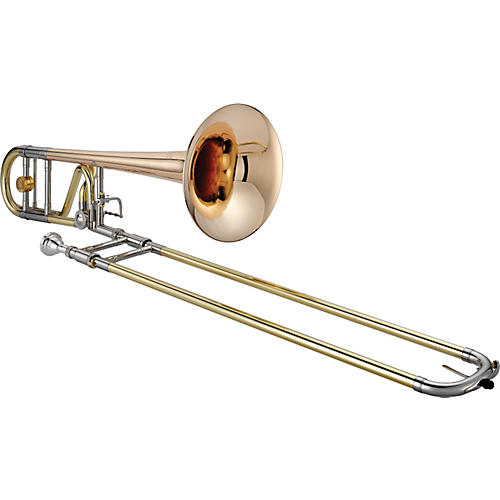 XO 1236L Professional Series F-Attachment Trombone 1236RL-O Lacquer - Standard Valve and Rose Brass Bell-thumbnail