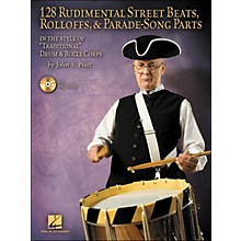 Hal Leonard 128 Rudimental Street Beats, Rolloffs, & Parade-Song Parts Book/CD