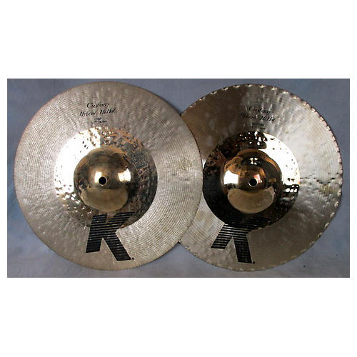 used zildjian k custom hybrid hi hat pair cymbal guitar center. Black Bedroom Furniture Sets. Home Design Ideas