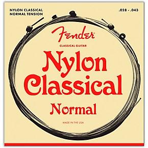 Fender 130 Clear/Silver Classical Nylon Guitar Strings ...