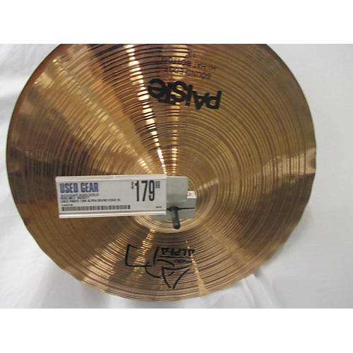 Paiste 13in Alpha Sound Edge Hi Hat Pair Cymbal