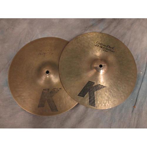 Zildjian 13in K Custom Dark Hi Hat Pair Cymbal-thumbnail