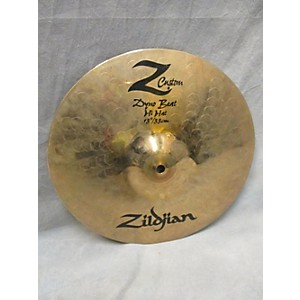 Pre-owned Zildjian 13 inch Z Custom Dyno Beat Hi Hat Cymbal by Zildjian