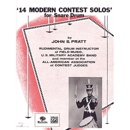 Alfred 14 Modern Contest Solos for Snare Drum Book-thumbnail