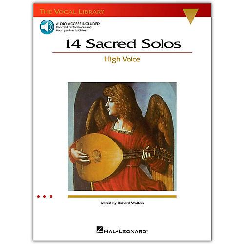 Hal Leonard 14 Sacred Solos for High Voice Book/2CD's