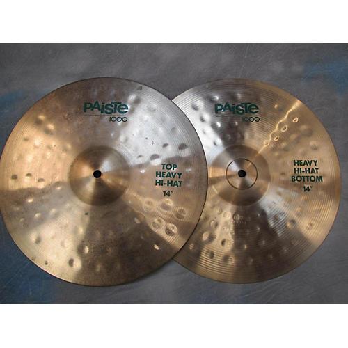 Paiste 14in 1000 Heavy Hi Hats Cymbal-thumbnail