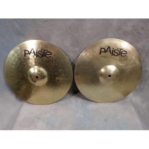 Paiste 14in 101 Brass Hi Hat Pair Cymbal-thumbnail