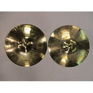 Pre-owned Wuhan 14 inch 14 inch Hi Hat Pair Cymbal
