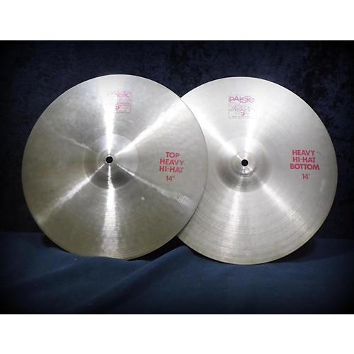 Paiste 14in 2002 HEAVY HI HAT PAIR Cymbal