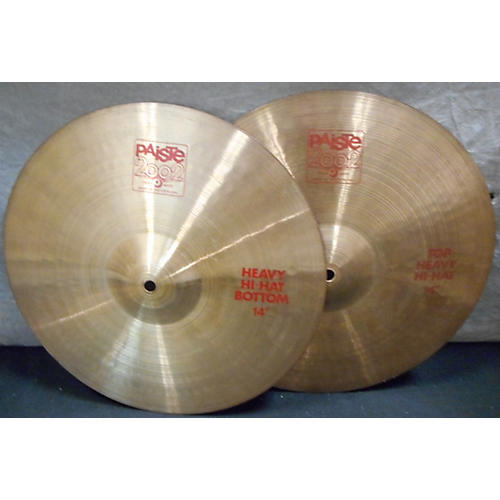 Paiste 14in 2002 Heavy Hi Hat Pair Cymbal
