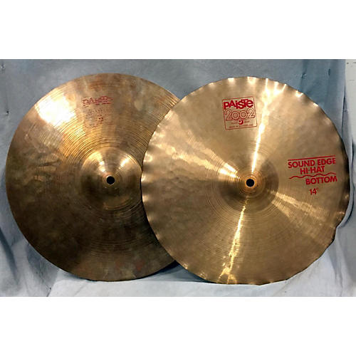 Paiste 14in 2002 Hi Hat Pair Cymbal-thumbnail