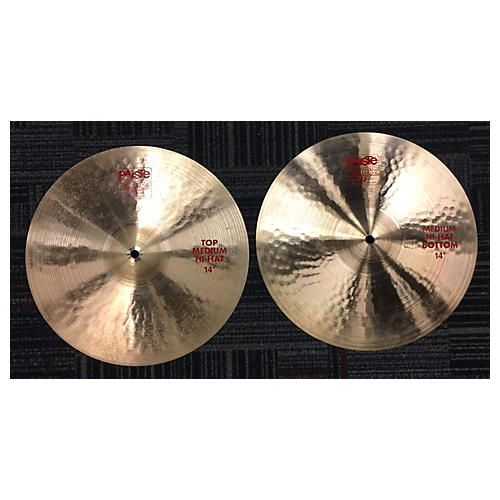Paiste 14in 2002 Medium Hi Hat Pair Cymbal