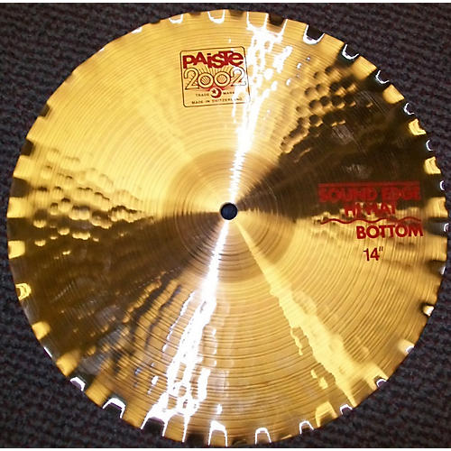 Paiste 14in 2002 Sound Edge Hi Hat Bottom Cymbal