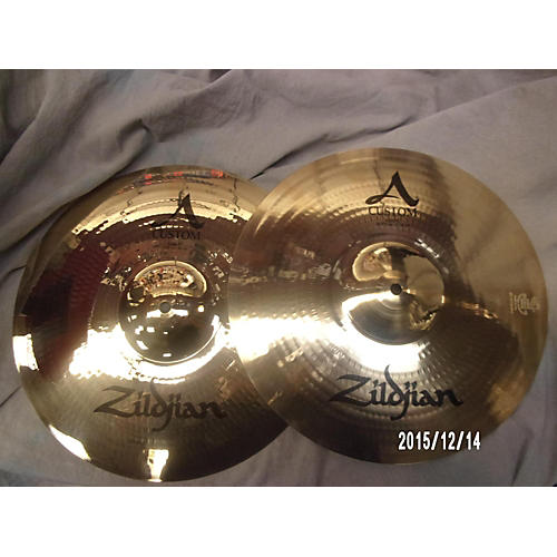 Zildjian 14in A Custom Hi Hat Pair Cymbal-thumbnail