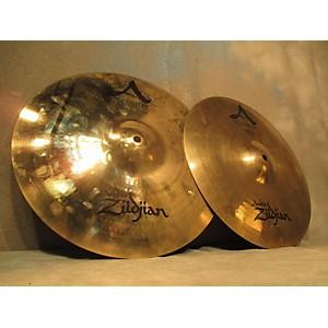 Pre-owned Zildjian 14 inch A Custom Hi Hat Pair Cymbal by Zildjian