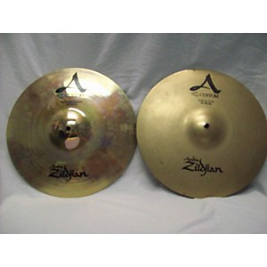 Pre-owned Zildjian 14 inch A Custom Hi Hat Pair Cymbal by Zildjian