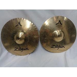 Pre-owned Zildjian 14 inch A Custom Hi Hat Pair Cymbal