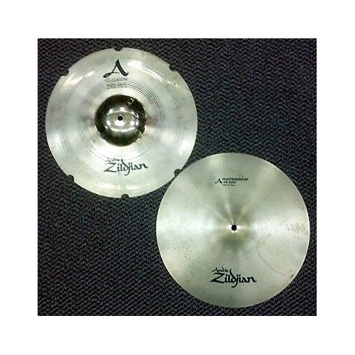 Zildjian 14in A Mastersound Top/ A Custom Reso Bottom Hi Hat Pair Cymbal-thumbnail