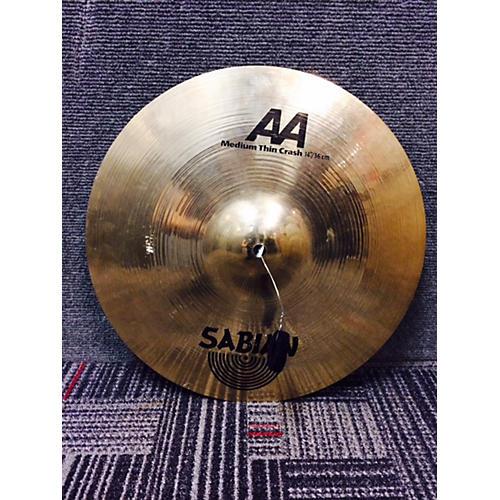 Sabian 14in AA Medium Thin Crash Cymbal