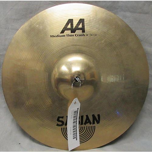 Sabian 14in AA Medium Thin Crash Cymbal-thumbnail