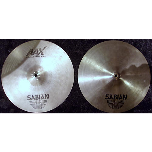 Sabian 14in AAXellerator / Stage Hihat Cross Pair Cymbal-thumbnail