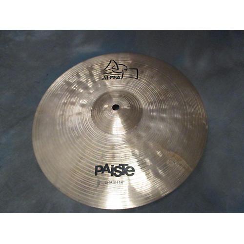 Paiste 14in Alpha Medium Crash Brilliant Cymbal-thumbnail