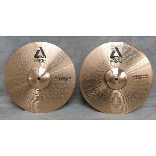 Paiste 14in Alpha Medium Hi Hat Pair Cymbal-thumbnail