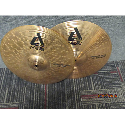 Paiste 14in Alpha Medium Hi Hat Pair Cymbal  33