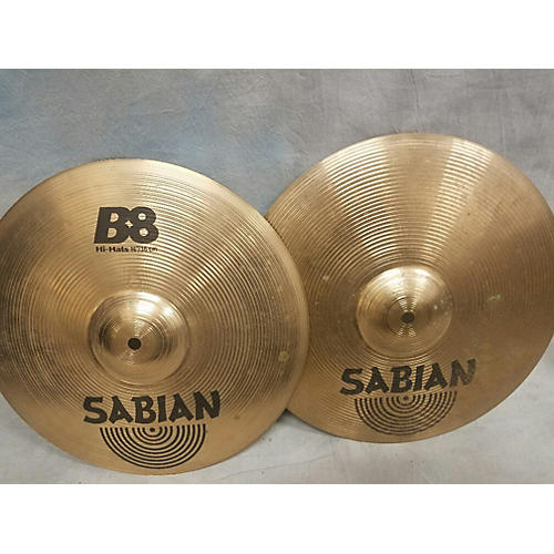 used sabian 14in b8 hi hat pair cymbal guitar center. Black Bedroom Furniture Sets. Home Design Ideas