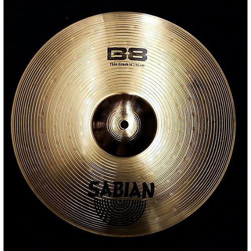 Sabian 14in B8 Thin Crash Cymbal-thumbnail