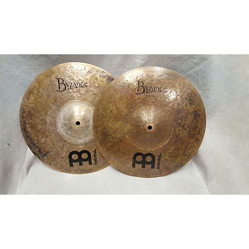 Meinl 14in Byzance Dark Hi Hat Pair Cymbal-thumbnail