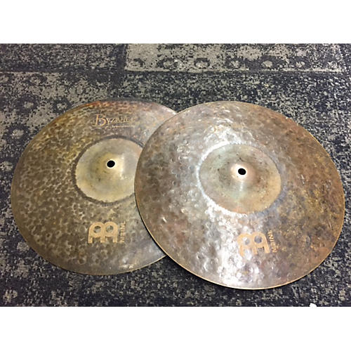Meinl 14in Byzance EX Dry Medium Hi Hat Pair Cymbal-thumbnail