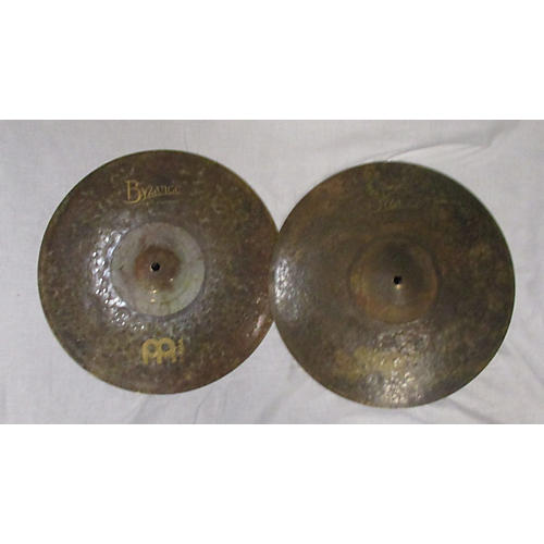 Meinl 14in Byzance EX Dry Medium Hi Hat Pair Cymbal-thumbnail
