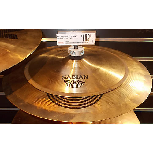 Sabian 14in Mike Portnoy Max Stax 14in Crash/10in Splash Cymbal