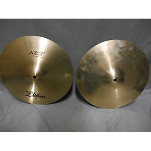Pre-owned Zildjian 14 inch New Beat Hi Hat Pair Cymbal by Zildjian