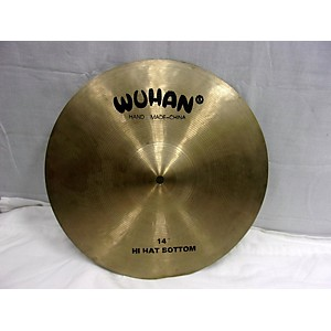 Pre-owned Wuhan 14 inch New Traditional Hi Hat Bottom Cymbal by Wuhan