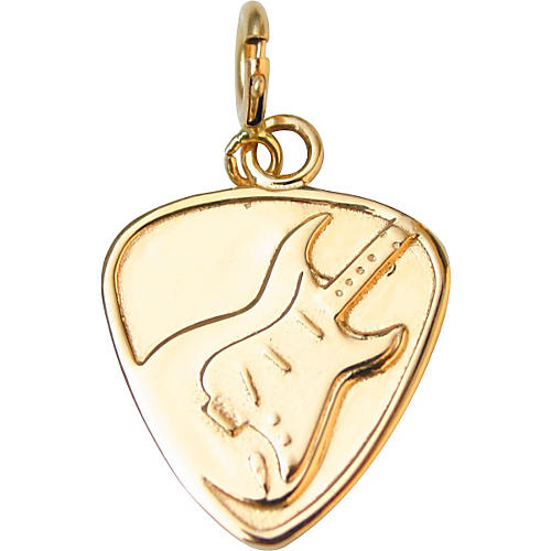 Jeffrey David 14k Gold Guitar Pick with Electric Guitar Pendant or Charm-thumbnail