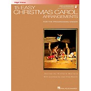 Hal Leonard 15 Easy Christmas Carol Arrangements for High Voice Book/CD