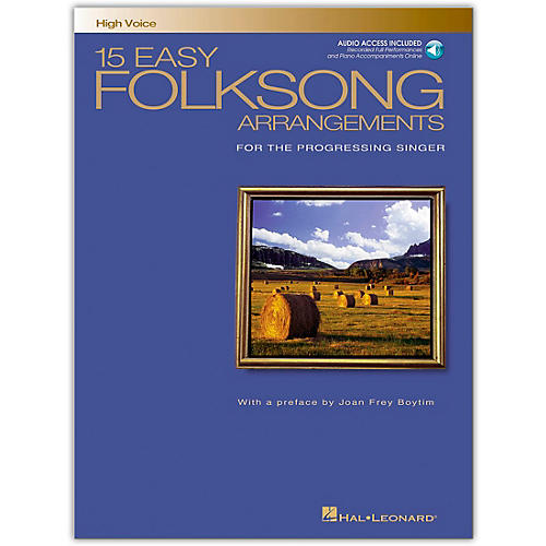 Hal Leonard 15 Easy Folksong Arrangements for High Voice Book/CD
